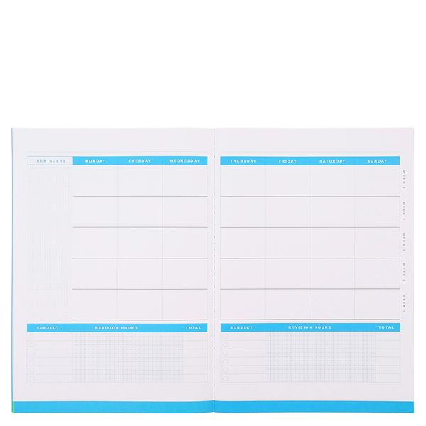 Monthly revision planner A4