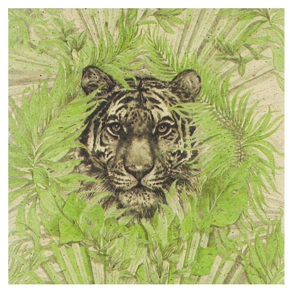 Tiger in the leaves card