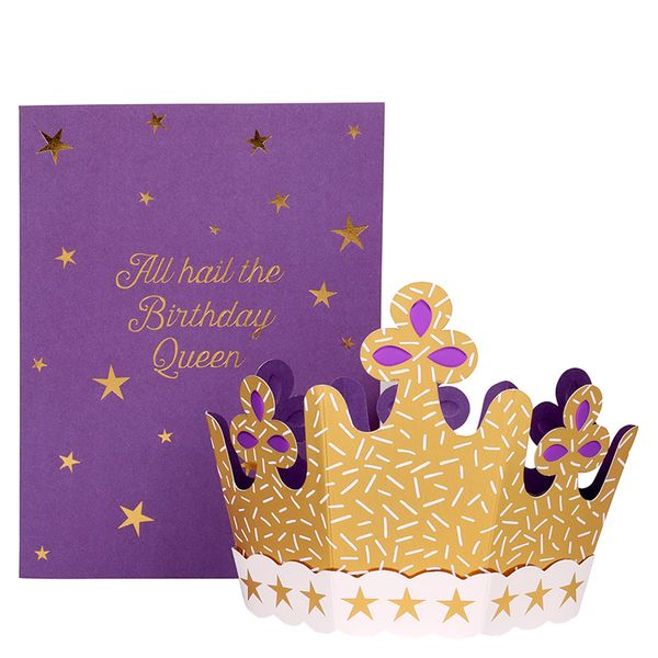 Pop out 3D crown birthday card