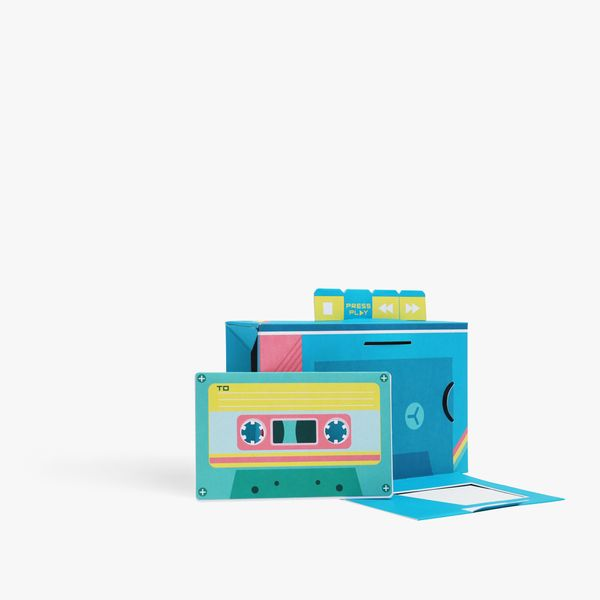 Pop Out Musical Boombox Birthday Card
