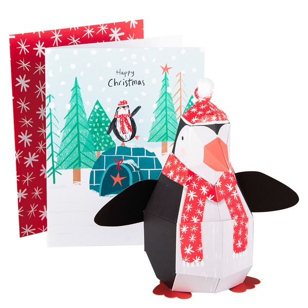 Pop up penguin Christmas card