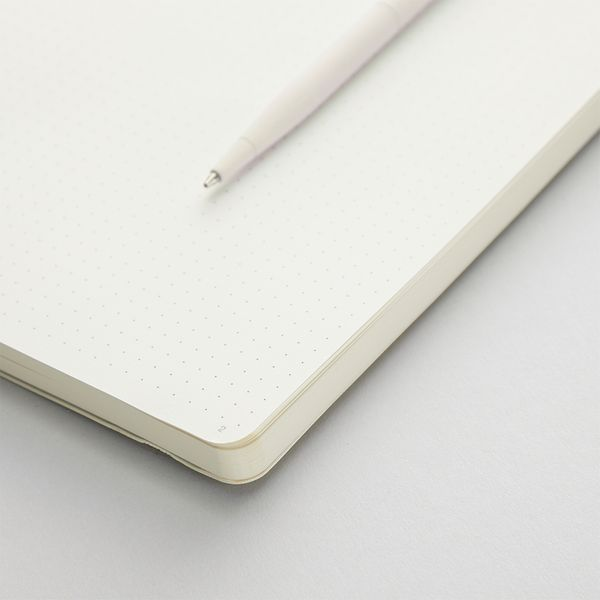 Agenzio soft oatmeal dot large notebook