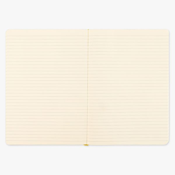 Agenzio Large Lined Notebook - Mustard