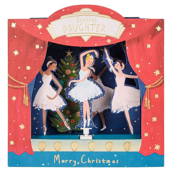 Pop up nutcracker daughter Christmas card