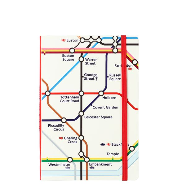 Agenzio soft London Underground ruled medium notebook