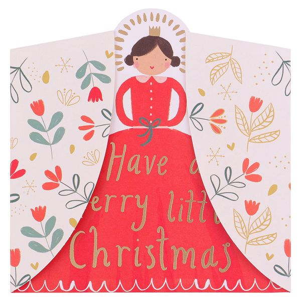 Fold out angel Christmas cards - pack of 6