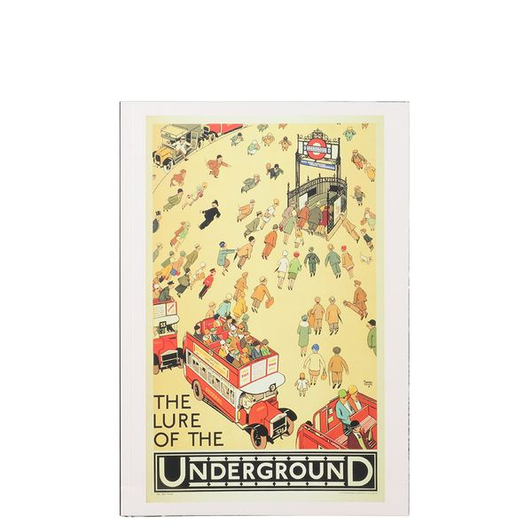 Mind The Gap lure of London A5 ruled notebook