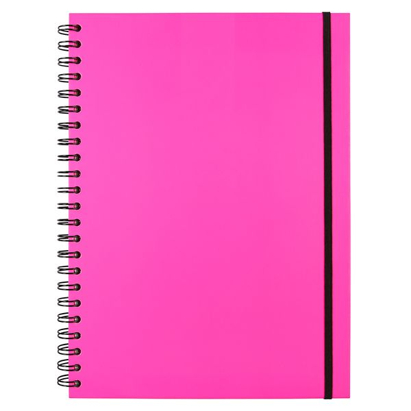 A4 neon pink subject book