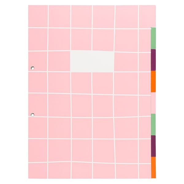 A4 grid print dividers - pack of 8