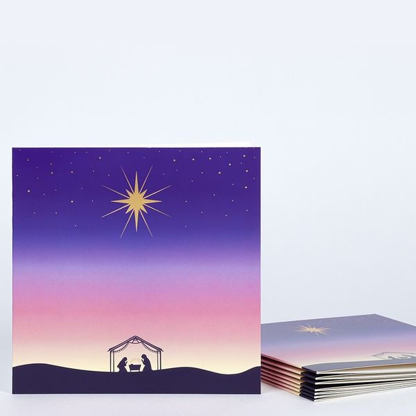 Nativity scene charity Christmas cards – pack of 8