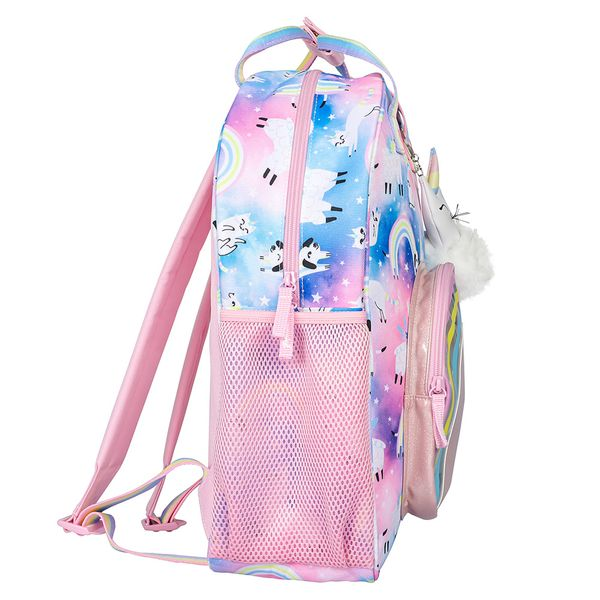 Unicorn Clouds backpack and keyring