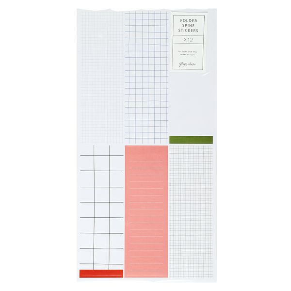 Muted folder spine stickers - pack of 12
