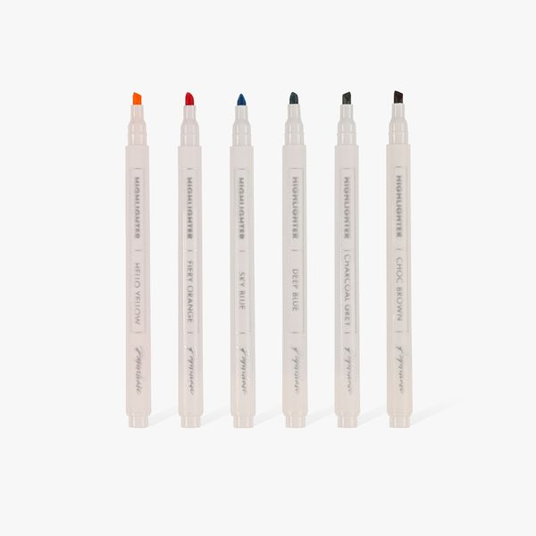 Warm Highlighters - pack of 6