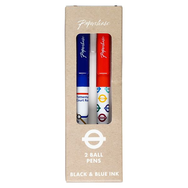 Mind The Gap London themed ballpoint pens - set of 2