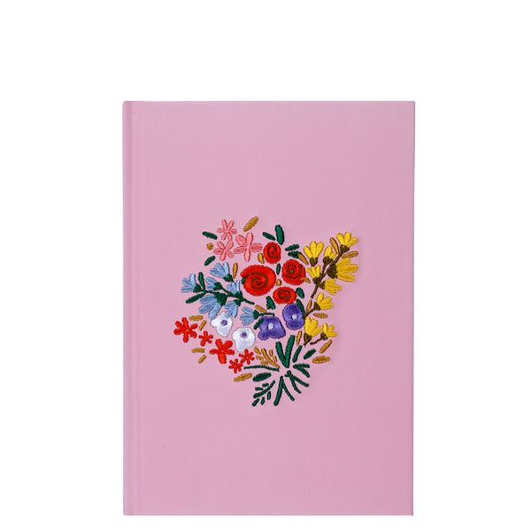 A5 Stitched Flower Notebook