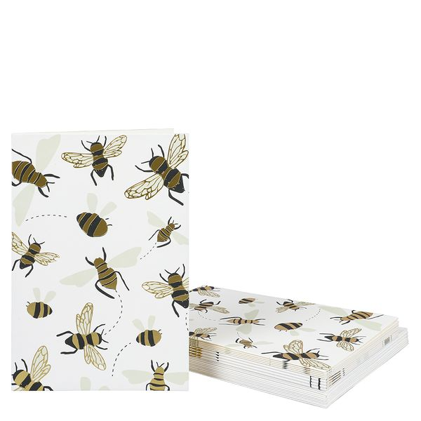 Buzzing bees note cards