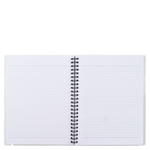 A5 black and white geo ruled notebook