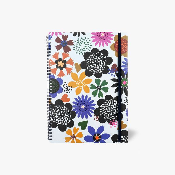 A4 Flowers Lined Notebook