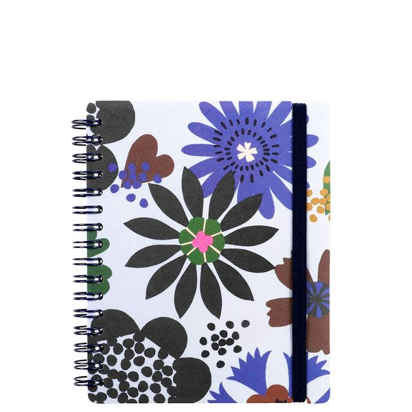 A6 bold flowers ruled notebook