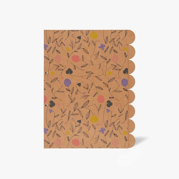 8-Part A4 Floral Kraft Subject Dividers
