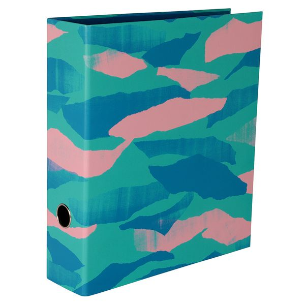 Turquoise Abstract Lever Arch