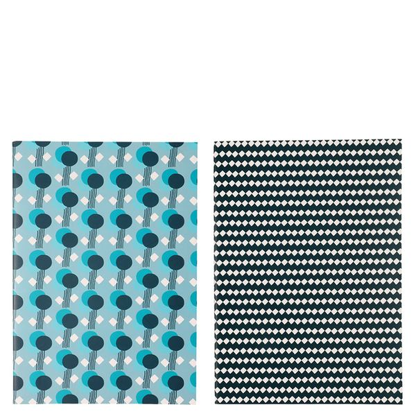 A4 Set of Two Blue Mix Notebook