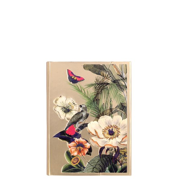 A7 Magnetic Tropical Flowers Gold Notebook