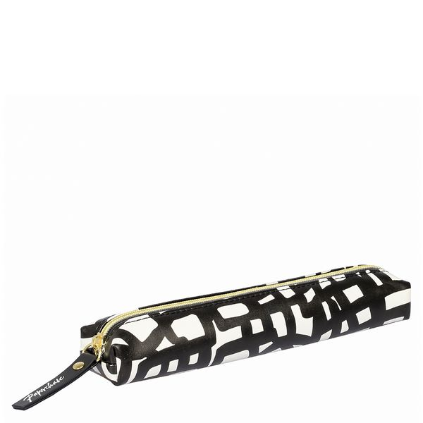 Black and white slim pencil case