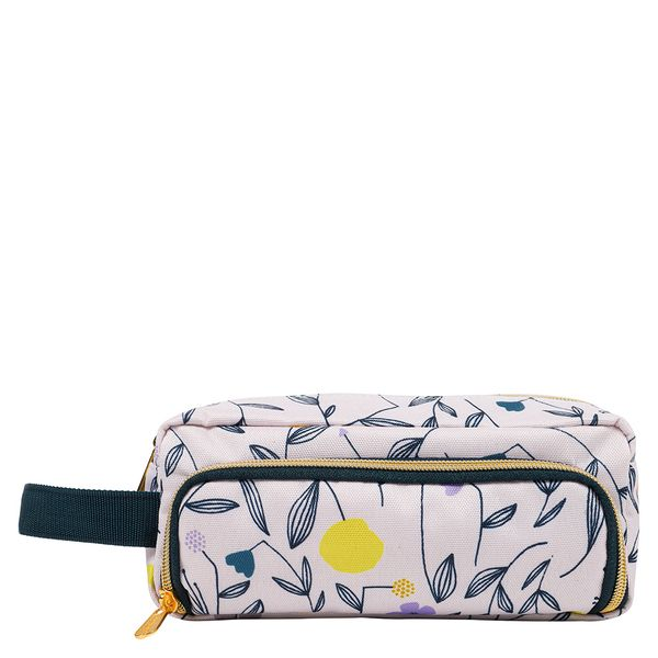 Floral multi pouch pencil case