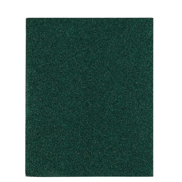 8x10 Green Plastic Glitter Notebook