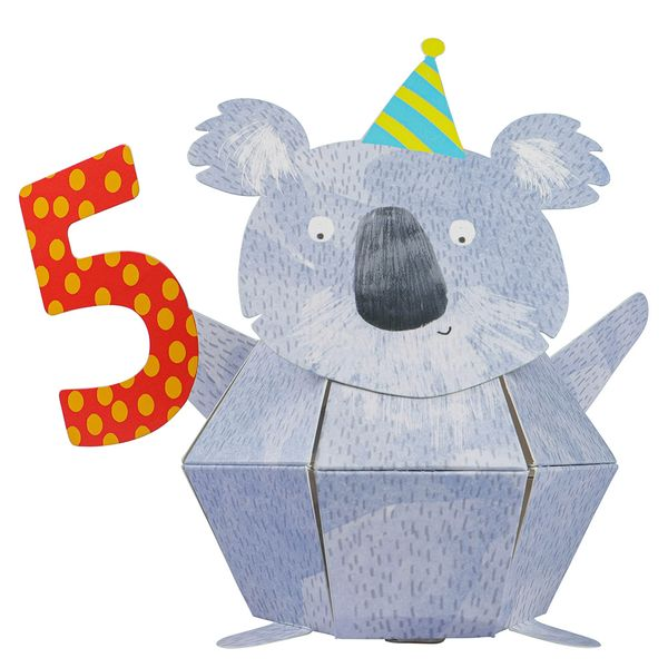 Pop up koala 5th birthday card