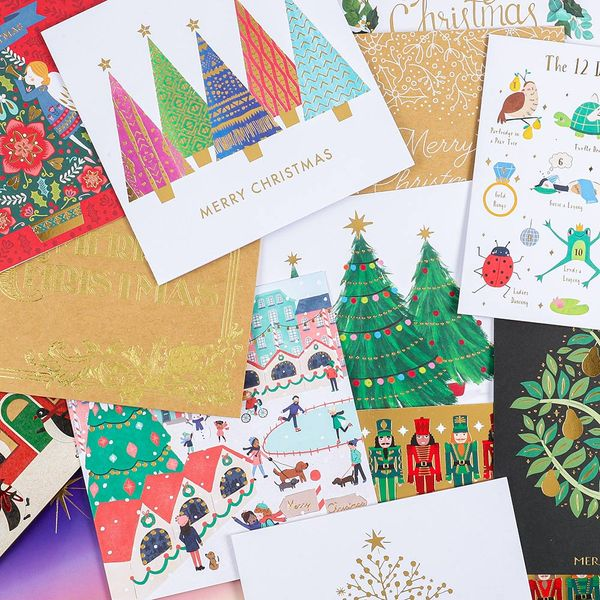 Charity Christmas cards assorted designs - pack of 24