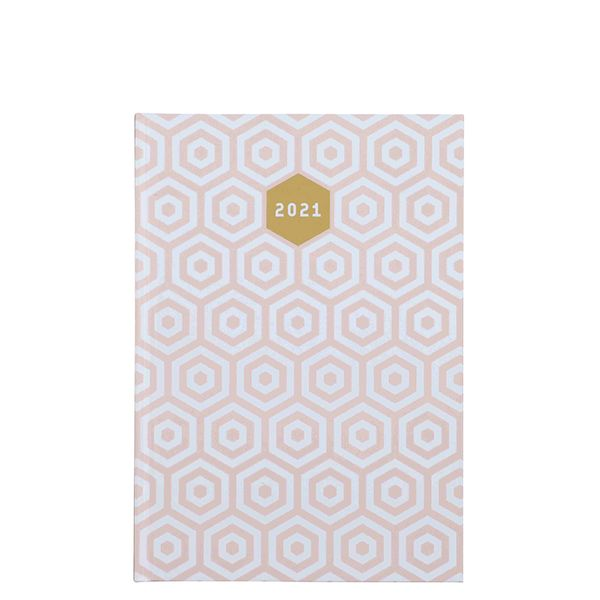 A5 Pink Geo 2021 diary
