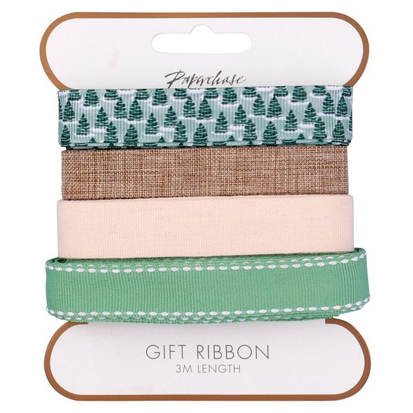 Christmas eco ribbons - pack of 4