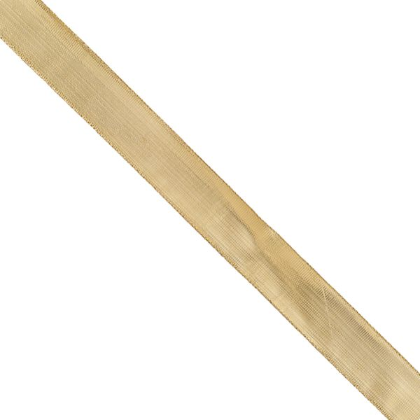 Gold wired ribbon - 3m