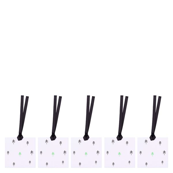 Mono ditsy trees gift tags - pack of 5