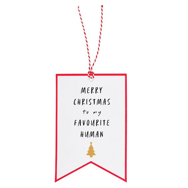 Favourite human XL gift tag