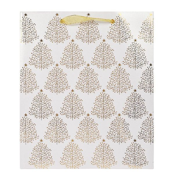 Gold trees large gift bag