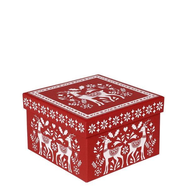 Red scandi small gift box