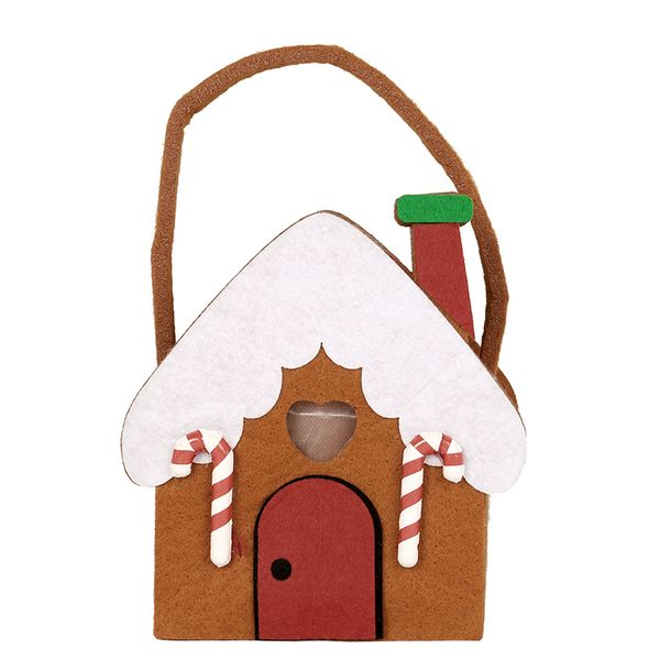 Light up gingerbread house small gift bag