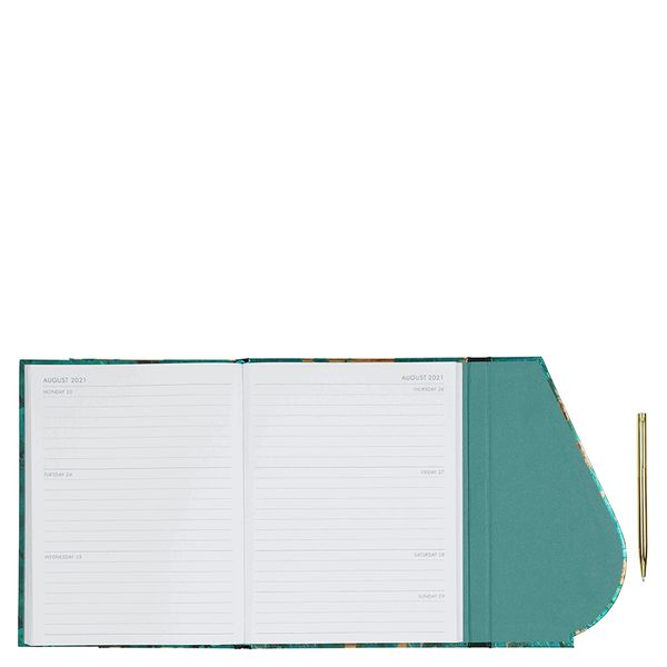 A5 Magnetic Emerald Swirl With Pen 2021 diary