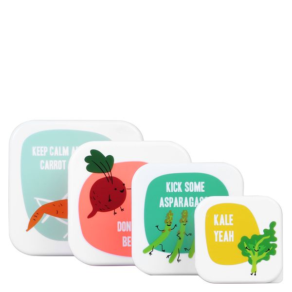 Veggie Pun snack boxes - set of 4