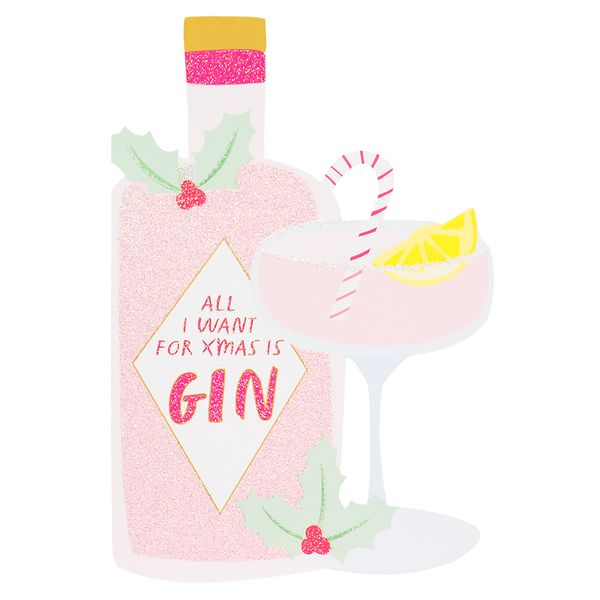 All I want is gin Christmas card
