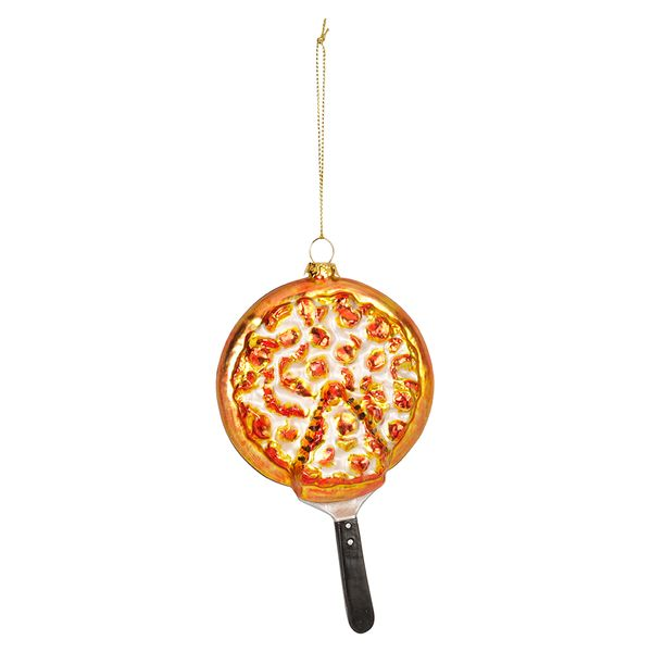 Glass Pan Pizza Christmas Decoration