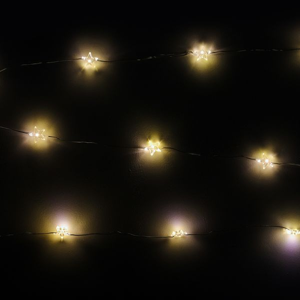 Star Wire White LED Christmas Lights