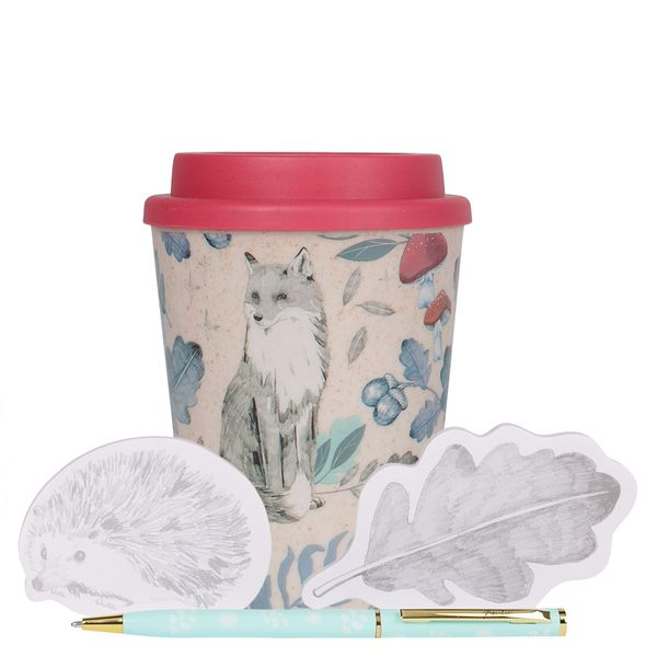 Into The Woods Coffee Cup Memo Pen Gift Set