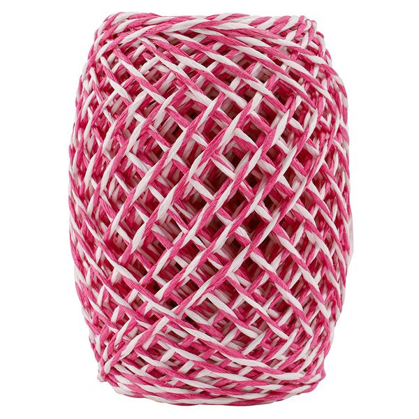 Pink and white twine - 50m