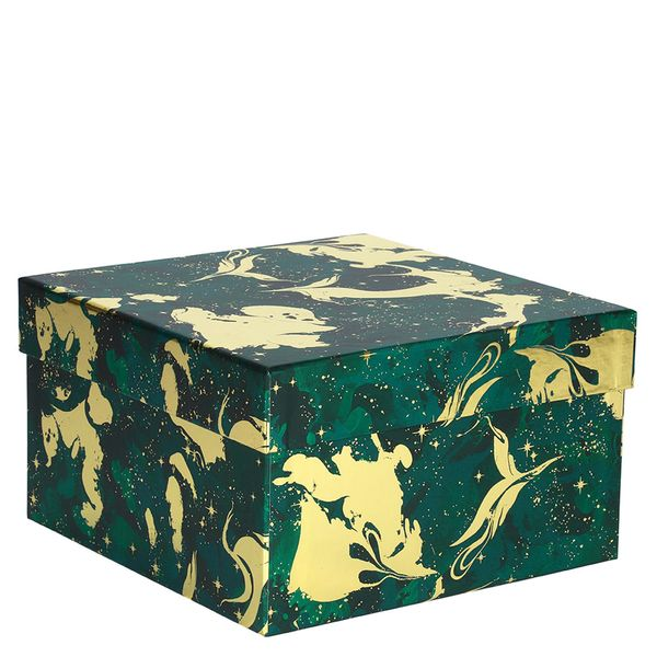 Luxe gold and green large gift box