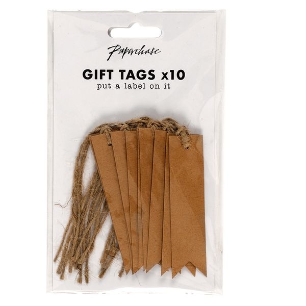 Flag Kraft gift tags - pack of 10