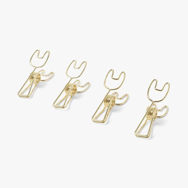 Gold Bunny Binder Clips - Pack of 4